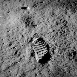 L'impronta sulla Luna di Buzz Aldrin