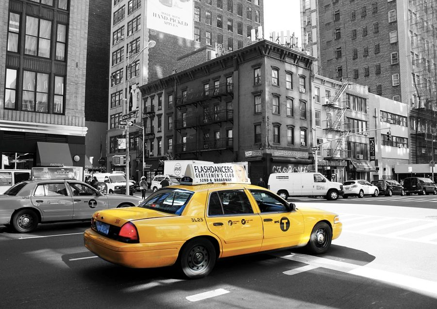 Un taxi giallo a New York