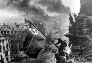 La bandiera sovietica sul Reichstag