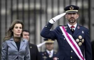 Filippo VI di Spagna con sua moglie Letizia Ortiz