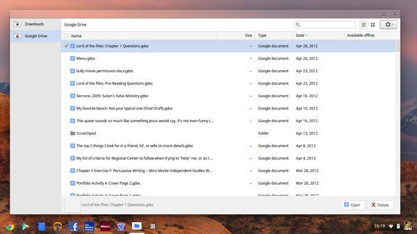 Google Drive su ChromeOS