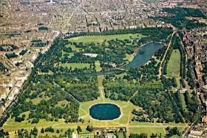 Hyde Park, meta perfetta per i bambini, visto dall'alto