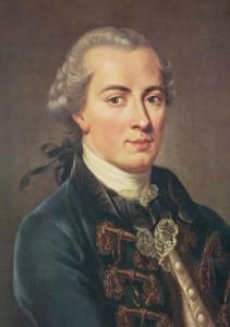 Immanuel Kant in un ritratto giovanile