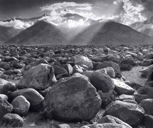 Mount Williamson, Sierra Nevada, from Manzanar, California di Ansel Adams