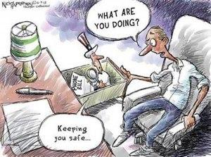 Una vignetta che ironizza sulla raccolta dati dell'NSA