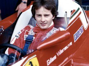 Gilles Villeneuve nella monoposto Ferrari