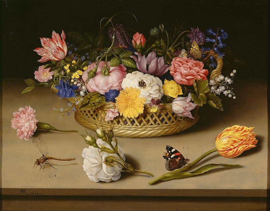 Ambrosius Bosschaert - Natura morta di fiori (1614)
