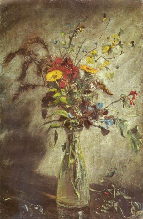 John Constable - Fiori in un vaso di vetro (1814)