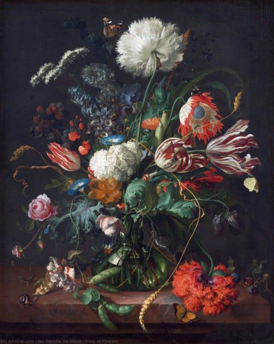 Jan Davidsz de Heem - Vaso di fiori (1645)