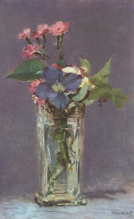 Edouard Manet - Fiori in un vaso di cristallo (1882)