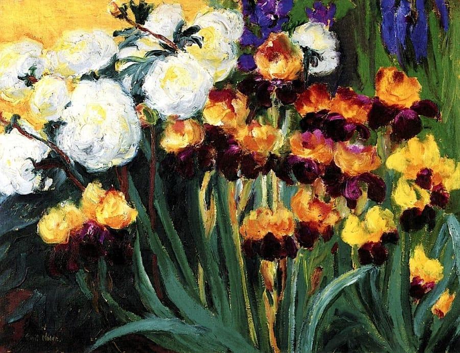 Emil Nolde - Peonie ed iris (1936)