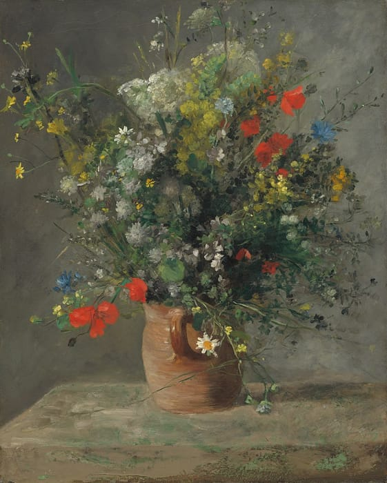 Pierre-Auguste Renoir - Fiori in un vaso (1866)