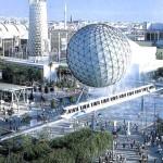 La zona dell'Expo a Siviglia nei giorni della manifestazione