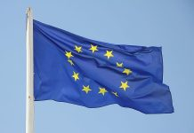 La bandiera dell'Unione Europea e le elezioni europee del 2014