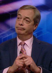Nigel Farage durante un'intervista televisiva