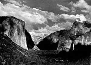 Yosemite Valley from Tunnel View di Ansel Adams