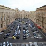 L'attuale Giardino del Belvedere, visibile dai Musei Vaticani