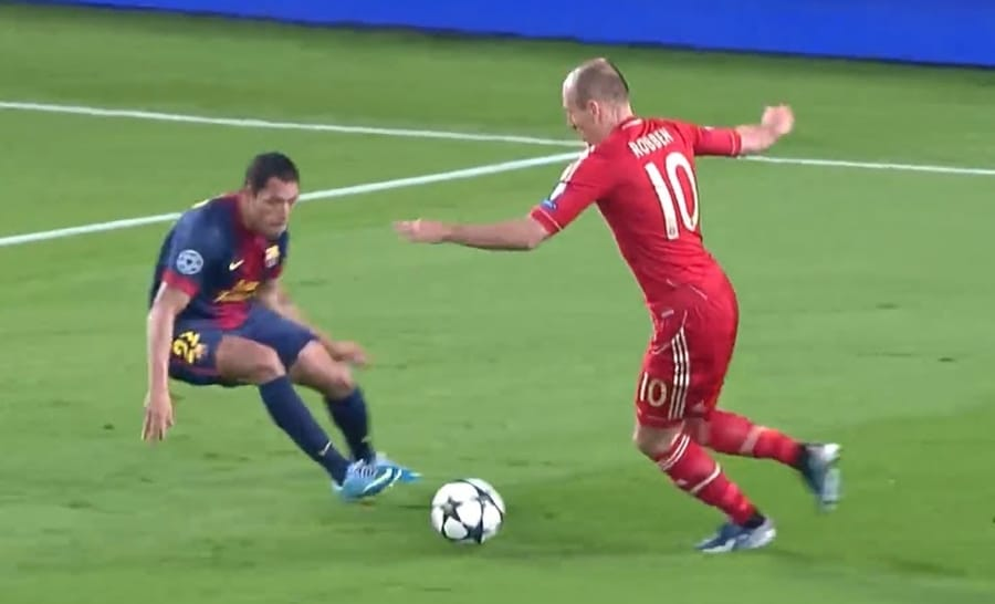 Arjen Robben in azione con la maglia del Bayern Monaco
