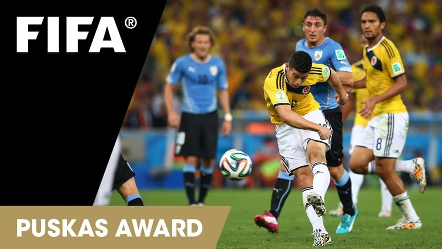James Rodriguez premiato dalla FIFA