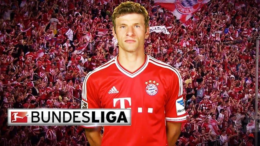 Thomas Müller con la maglia del Bayern Monaco