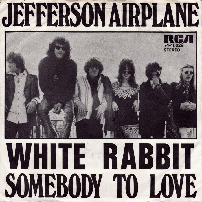 Il singolo di White Rabbit e Somebody to Love dei Jefferson Airplane