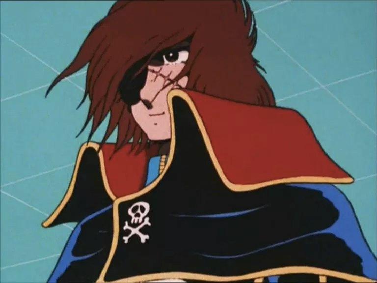 Capitan Harlock, protagonista di una fortunata serie anime