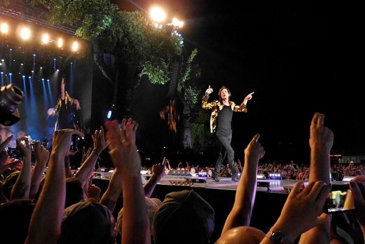 Mick Jagger in concerto coi suoi Rolling Stones (foto di Gorupdebesanez via Wikimedia Commons)