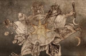 La stella a sette punte degli adepti alla religione dei Sette Dei