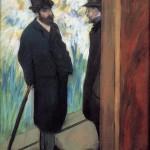 Amici a teatro di Edgar Degas