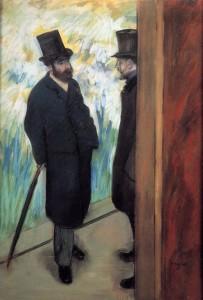 """Amici a teatro"" di Edgar Degas"