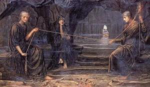 Le dee che, nel mito di Er, guidavano le anime nella scelta della reincarnazione