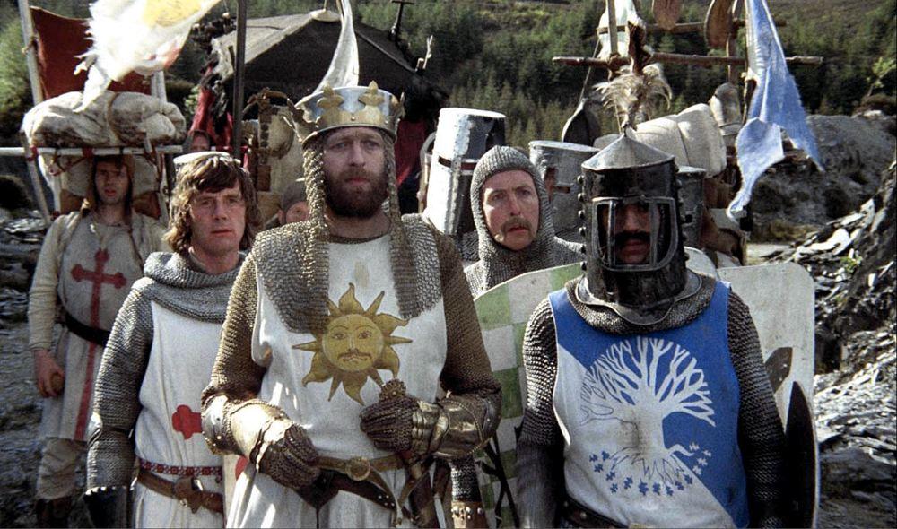 Una scena di Monty Python e il sacro Graal