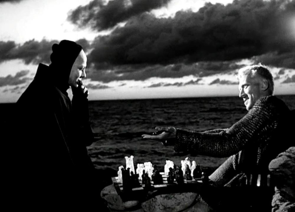 Una famosa scena de Il settimo sigillo di Ingmar Bergman