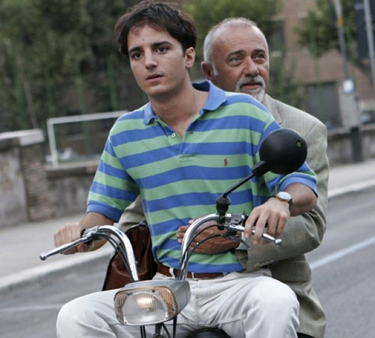 Giorgio Faletti e Nicolas Vaporidis in Notte prima degli esami