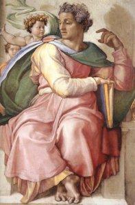 Il profeta Isaia rappresentato da Michelangelo