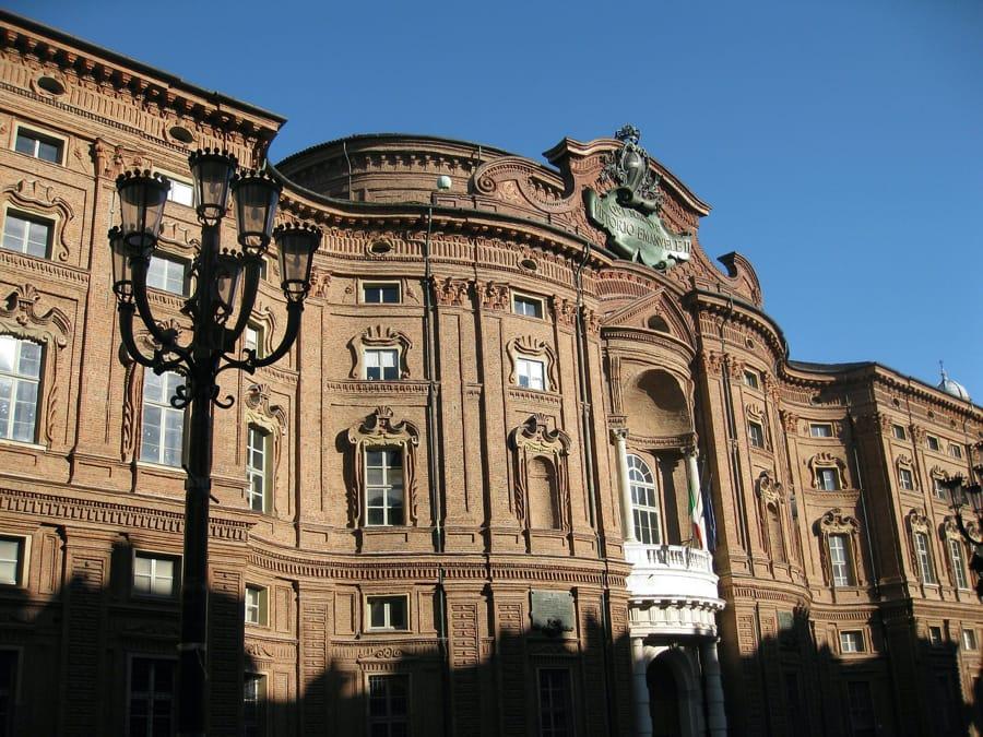 Palazzo Carignano a Torino che ospita il Museo del Risorgimento