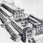 Una ricostruzione dell'antica Basilica di San Pietro