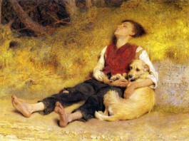 """""""Il suo unico amico"""" di Briton Rivière"""