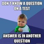 Non so rispondere a una domanda in un test - La risposta è in un'altra domanda