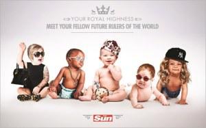 La campagna del Sun per il Royal Baby