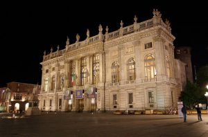 La facciata di Palazzo Madama (foto di Xadhoomx via Wikimedia Commons)