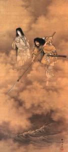 Izanami e Izanagi mentre creano il mondo