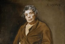 Esopo ritratto idealmente da Diego Velázquez
