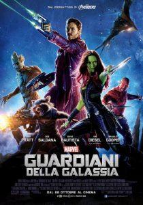 La locandina de I Guardiani della Galassia della Marvel