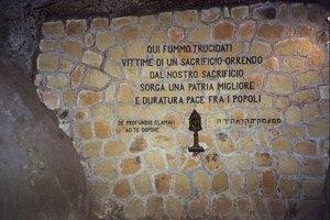 Il monumento a memoria dei morti delle Fosse Ardeatine