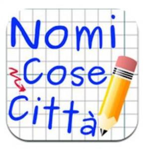 Il logo di un'app ispirata a Nomi-cose-città