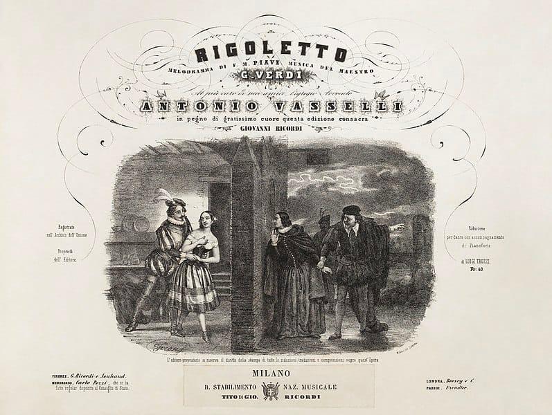 Una delle prime edizioni del Rigoletto di Verdi