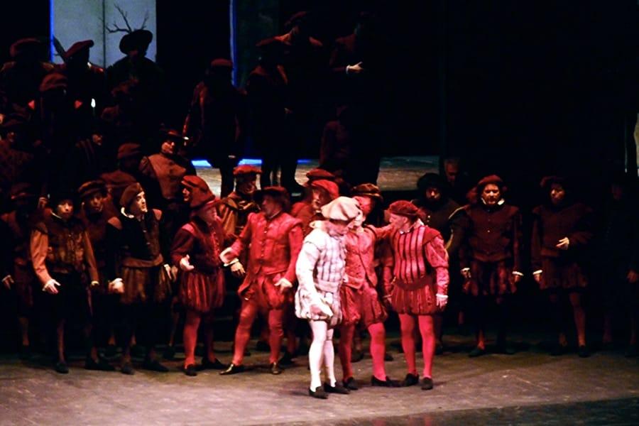 Una scena di un recente Rigoletto