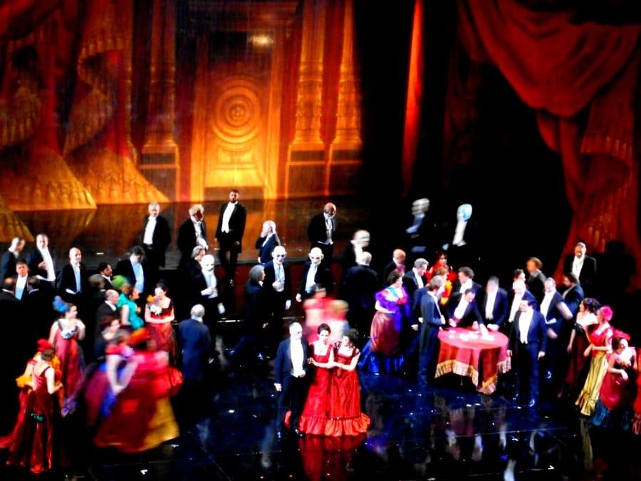 Una recente rappresentazione della Traviata di Verdi