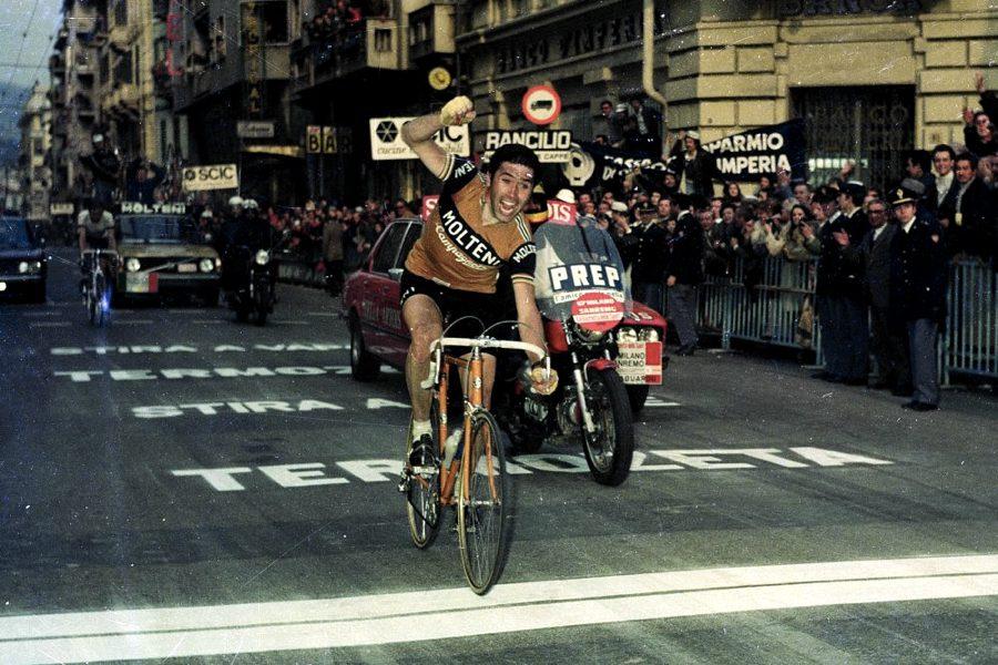 Eddy Merckx al traguardo